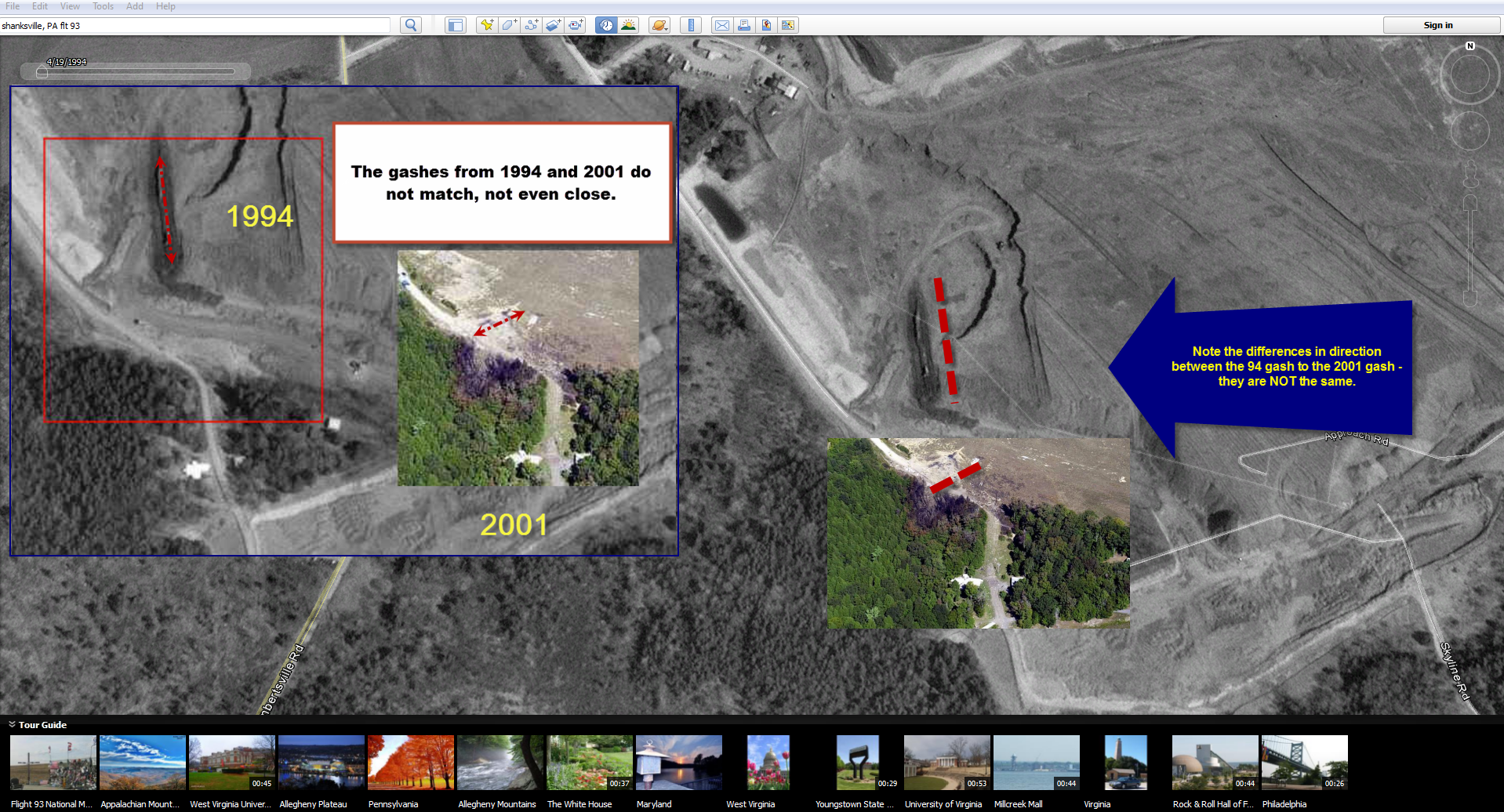 Google Earth Shanksville Myth